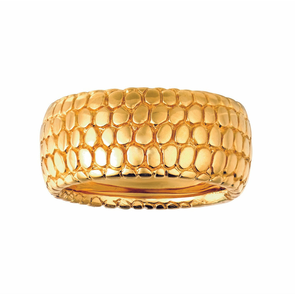 #ALACARTEBRIDAL YELLOW GOLD BAND, Snakeskin Collection - GERARDRIVERON