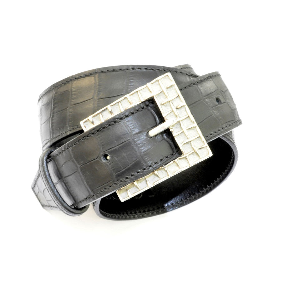 Béton Collection Silver Belt Buckle - GERARDRIVERON