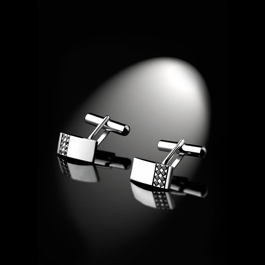 Men's Collection Unik Man Cufflinks 'Dandy' White Gold