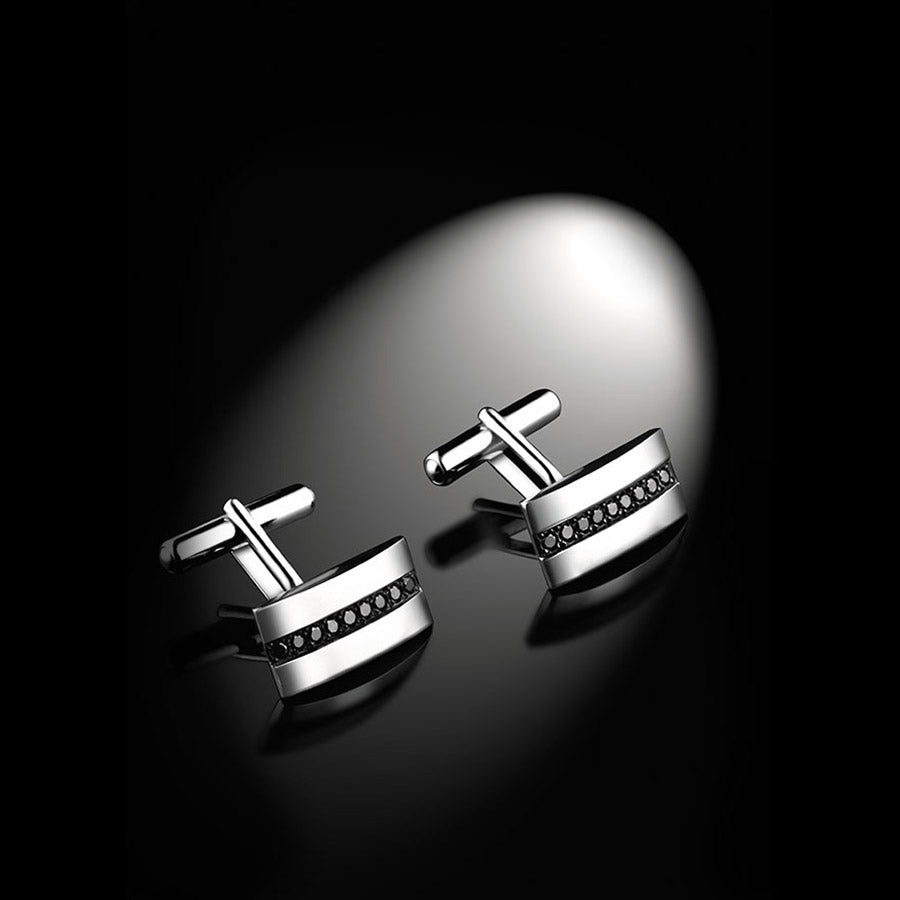 Men's Collection Unik Man Cufflinks 'Charmeur' White Gold