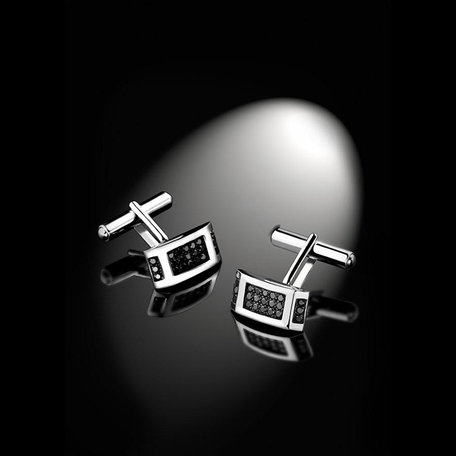 Men's Collection Unik Man Cufflinks 'Charismatik' White Gold - GERARDRIVERON