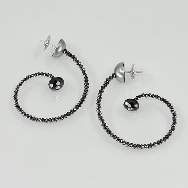 PIRUS BLACK DIAMOND SPINEL EARRINGS PATRICE FABRE RIVIÈRE NOIRE COLLECTION
