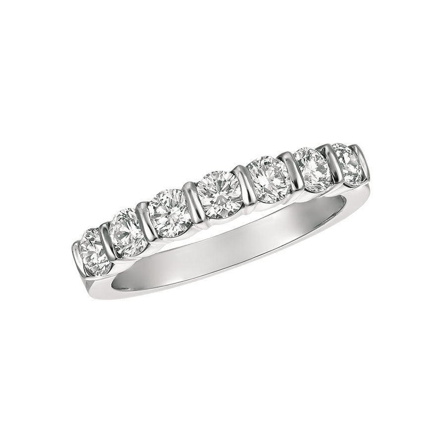 #alacartebridal GK Platinum and Diamond Women's PART way Eternity Band - GERARDRIVERON