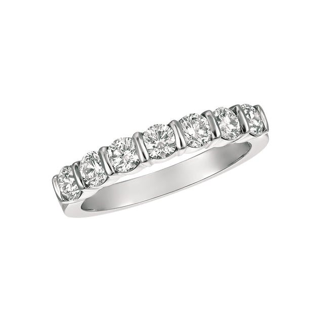 #alacartebridal GK Platinum and Diamond Women's PART way Eternity Band