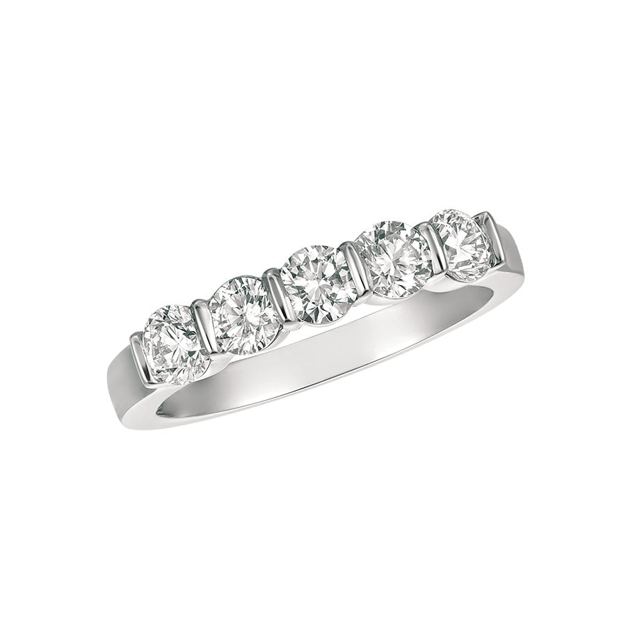 #alacartebridal GK PLATINUM AND DIAMONDS WOMEN's Halfway ETERNITY BAND - GERARDRIVERON