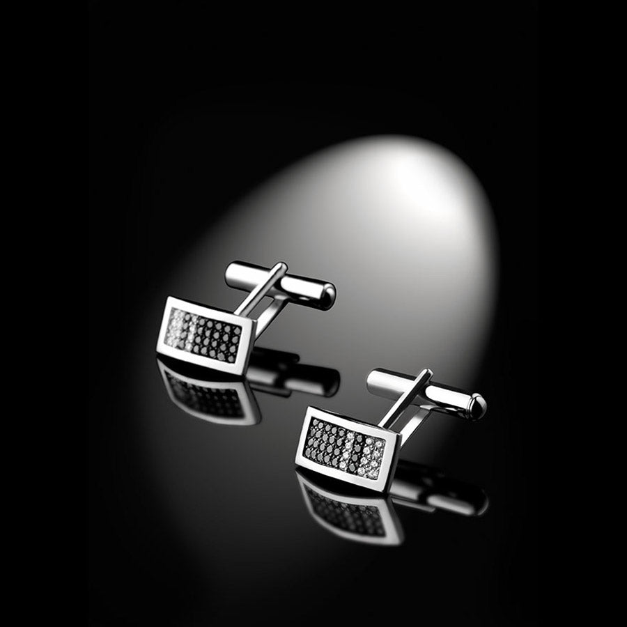 Men's Collection Unik Man Cufflinks 'Audacieux' White Gold