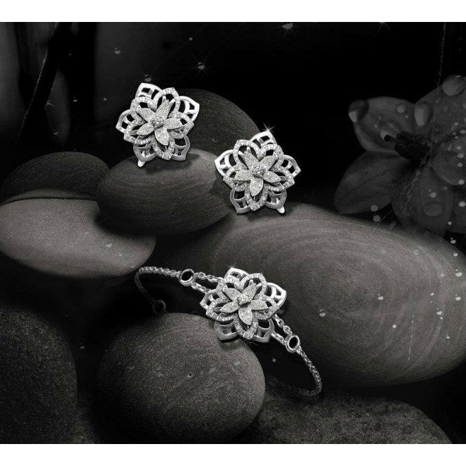 JASMIN EARRINGS WHITE GOLD AND DIAMOND, FLORILÈGE COLLECTION #ALACARTEBRIDAL
