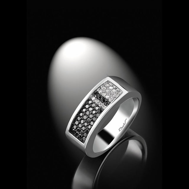Men's Collection Unik Man Signet Ring 'Audacieux' White Gold - GERARDRIVERON