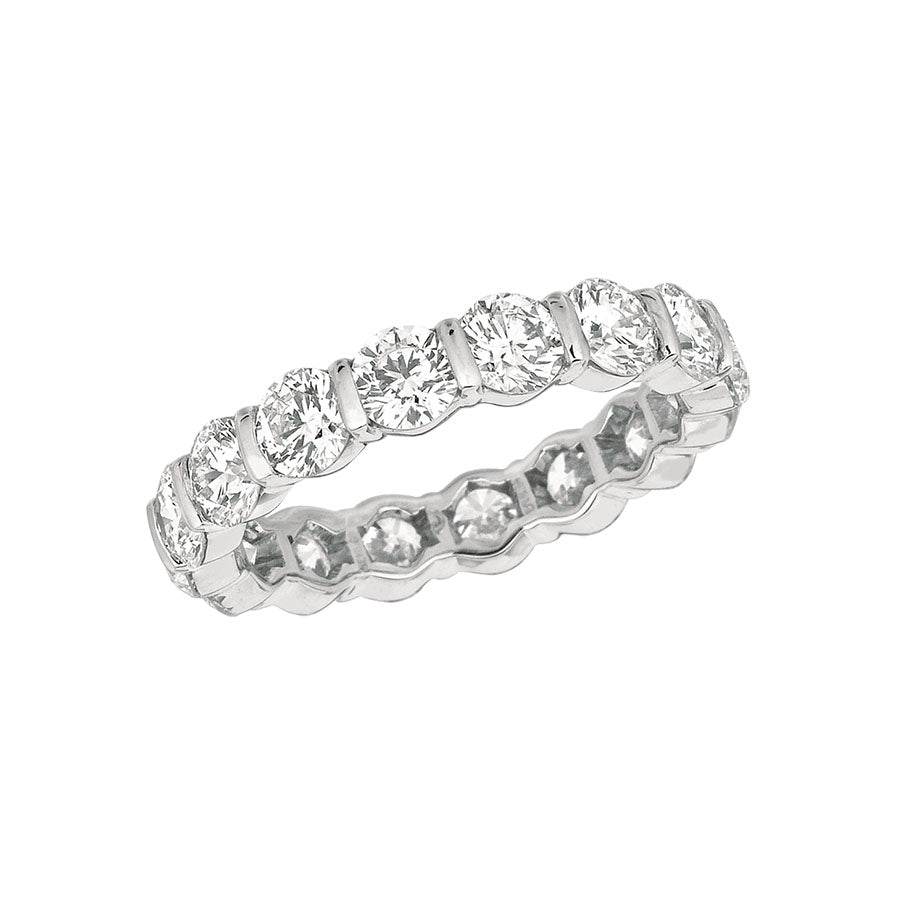 #ALACARTEBRIDAL GK PLATINUM AND DIAMOND WOMEN'S ETERNITY RING - GERARDRIVERON