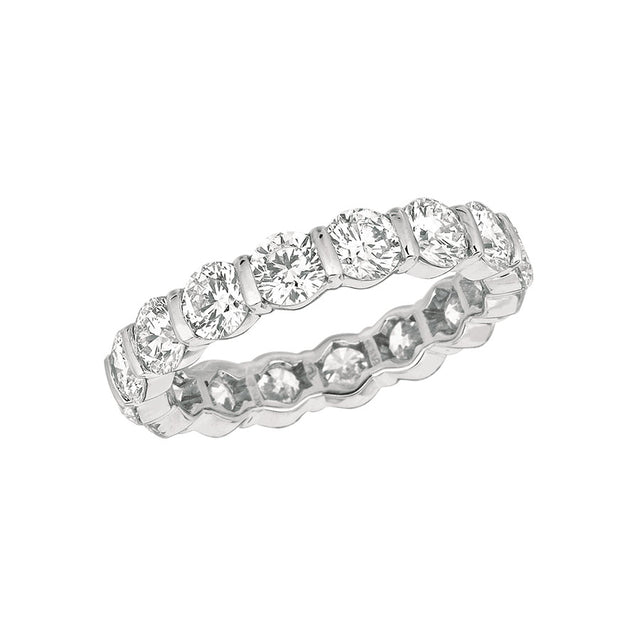#ALACARTEBRIDAL GK PLATINUM AND DIAMOND WOMEN'S ETERNITY RING