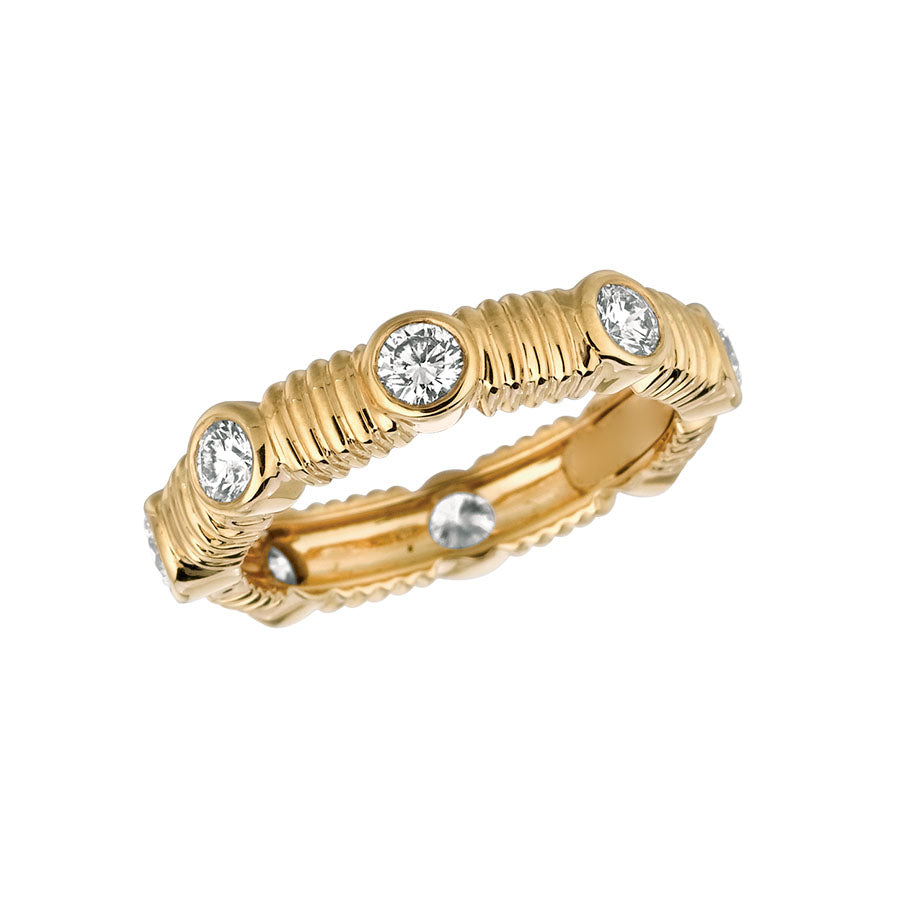 #ALACARTEBRIDAL GK YELLOW GOLD AND DIAMOND WOMEN'S ETERNITY BAND - GERARDRIVERON