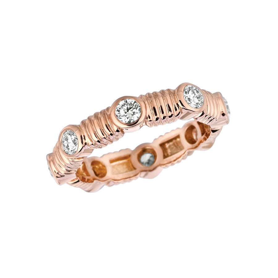 #ALACARTEBRIDAL GK ROSE GOLD AND DIAMOND WOMEN'S ETERNITY BAND
