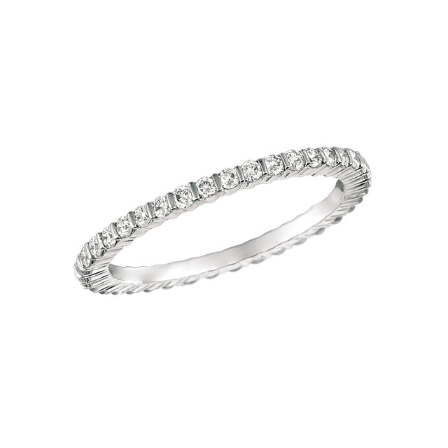 #ALACARTEBRIDAL GK WHITE GOLD AND DIAMOND WOMEN'S ETERNITY BAND
