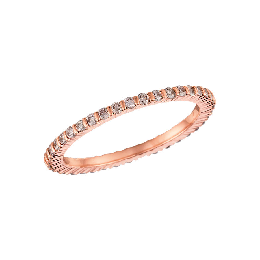 #ALACARTEBRIDAL GK ROSE GOLD AND PINK DIAMOND WOMEN'S ETERNITY BAND