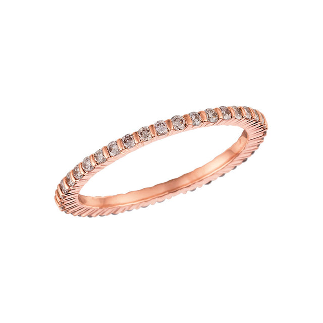 #ALACARTEBRIDAL GK ROSE GOLD AND PINK DIAMOND WOMEN'S ETERNITY BAND - GERARDRIVERON