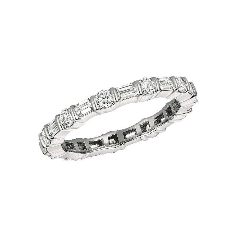 #alacartebridal GK Platinum and Diamond Women's Eternity Band