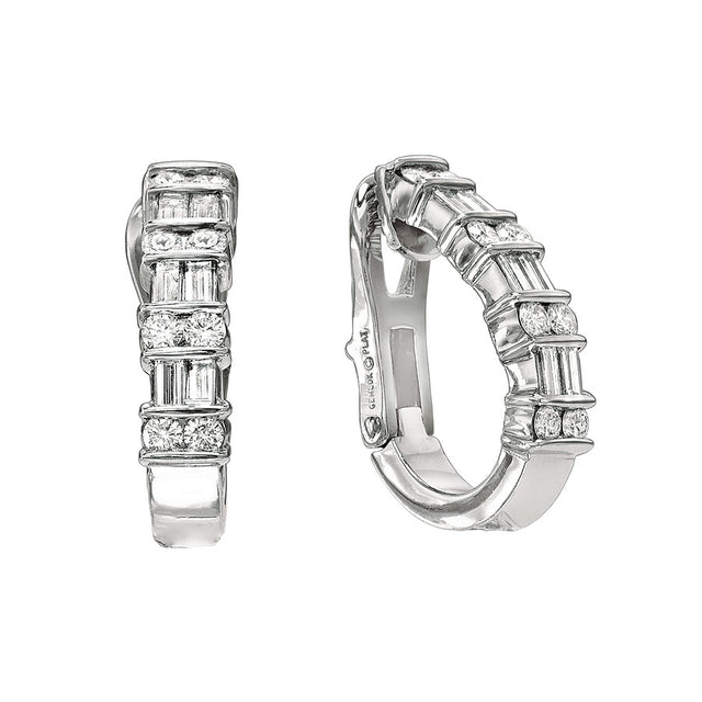 #ALACARTEBRIDAL GK PLATINUM AND DIAMOND EARRINGS
