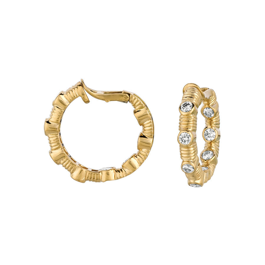 #ALACARTEBRIDAL GK YELLOW GOLD AND DIAMOND EARRINGS - GERARDRIVERON