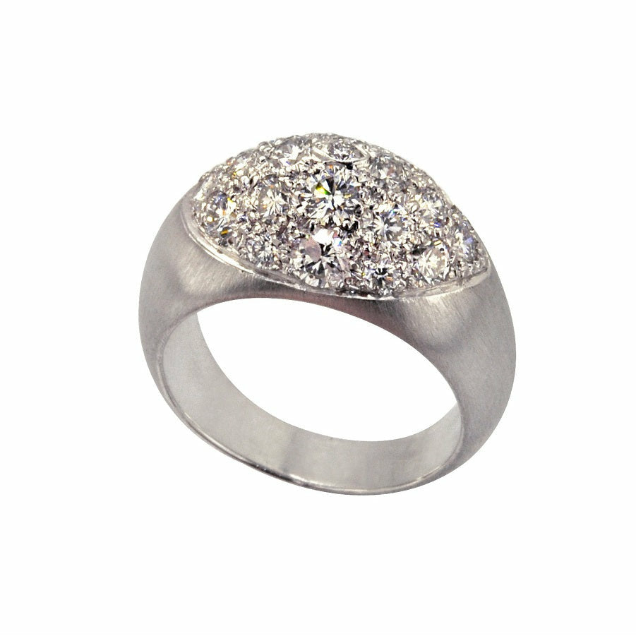 Fuji Diamond Ring in 18K White Gold - GERARDRIVERON