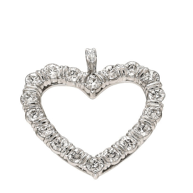 "#ALACARTEBRIDAL GK ""Valentine"" WHITE GOLD AND DIAMOND HEART-SHAPE PENDENT"