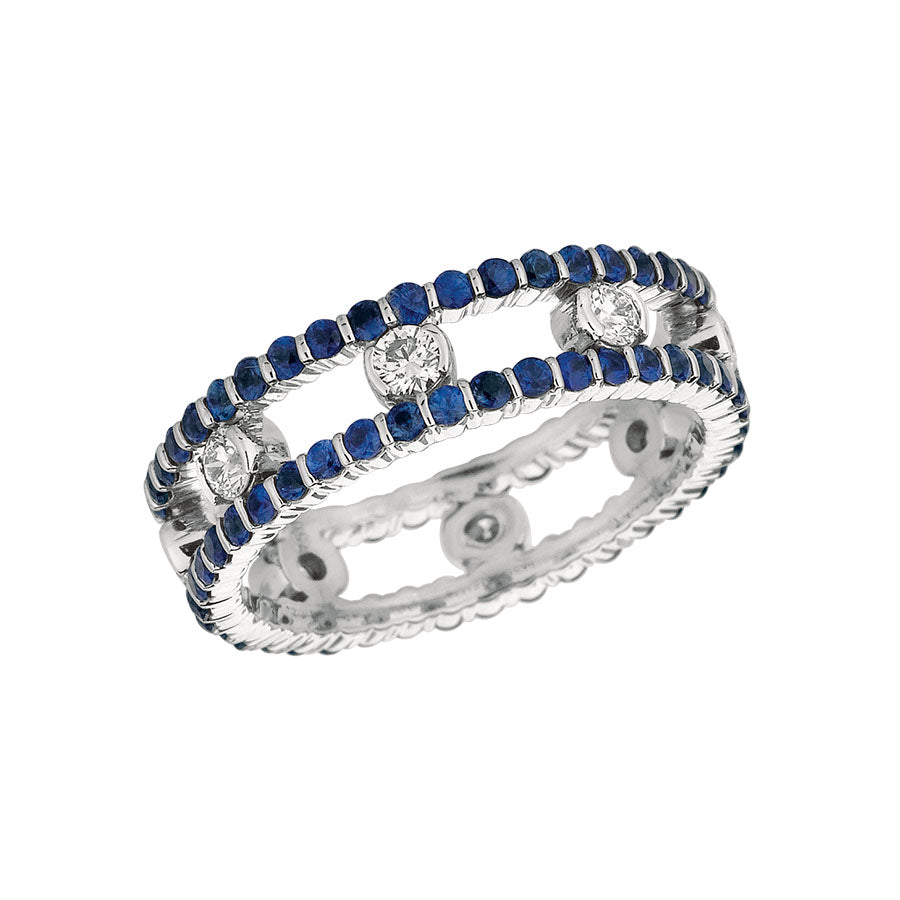 #ALACARTEBRIDAL GK WHITE GOLD SAPPHIRE AND DIAMOND WOMEN'S RING - GERARDRIVERON