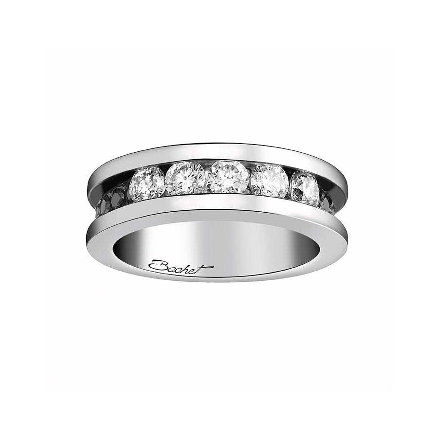Women's Collection Wedding Ring Marry Me 'Light in Paris', White Gold, Large model - GERARDRIVERON