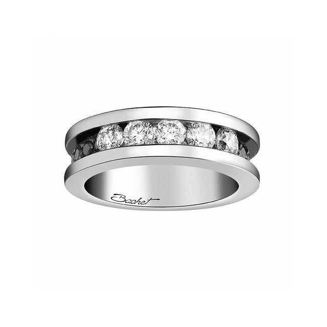 Women's Collection Wedding Ring Marry Me 'Light in Paris', White Gold, Large model