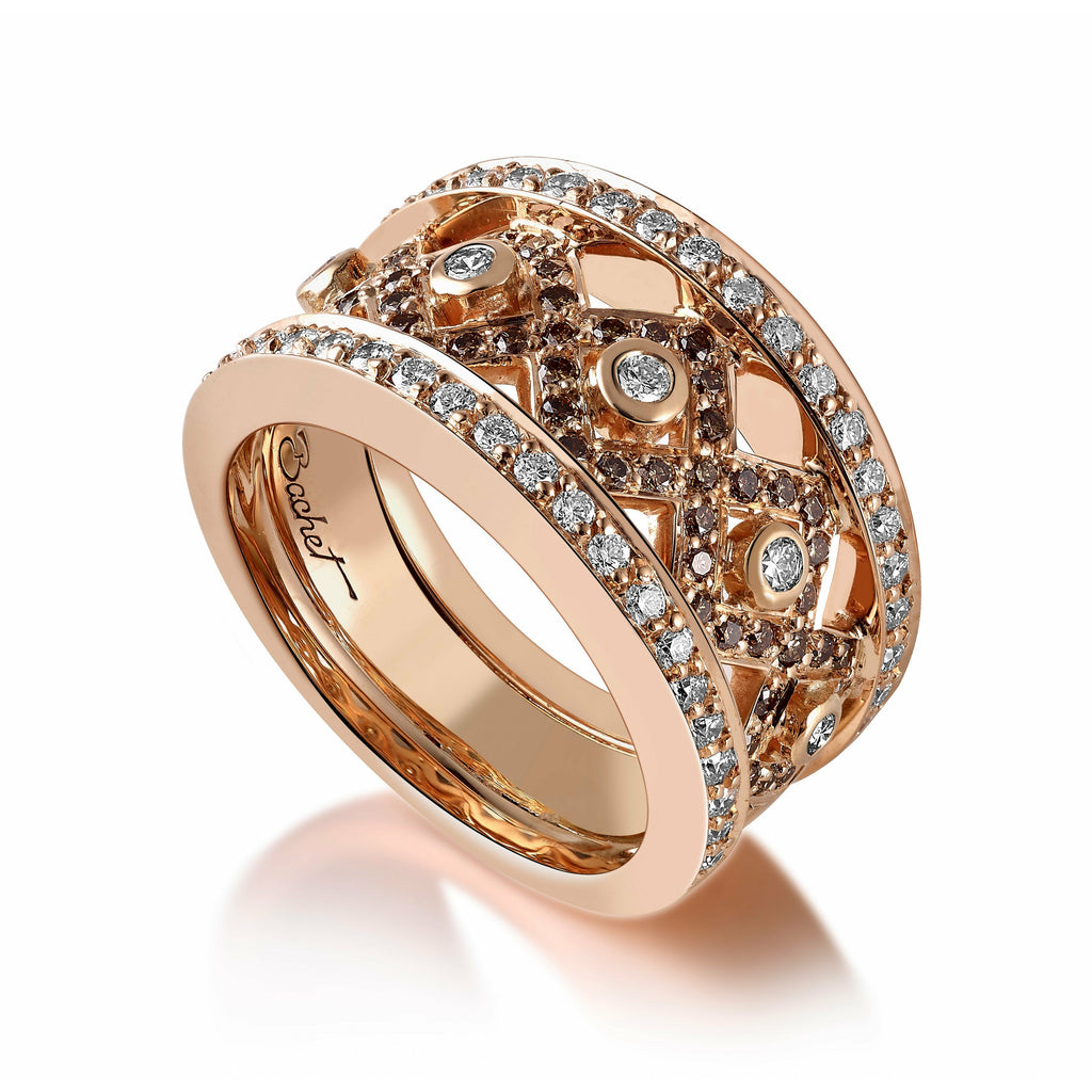 Women's Collection Ring Rock, Rose Gold - GERARDRIVERON