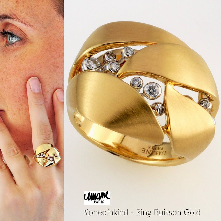 Natural History Collection Gold & Diamond Ring Buisson - GERARDRIVERON