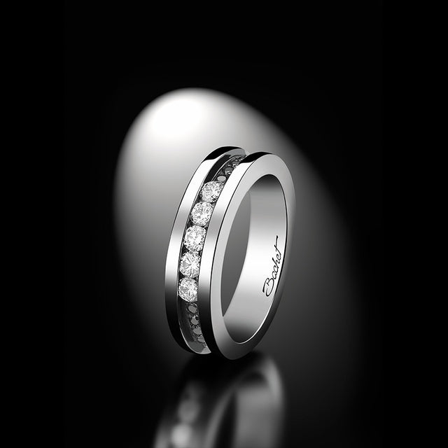 Women's Collection Wedding Ring Marry Me 'Light Paris', White Gold, Small model