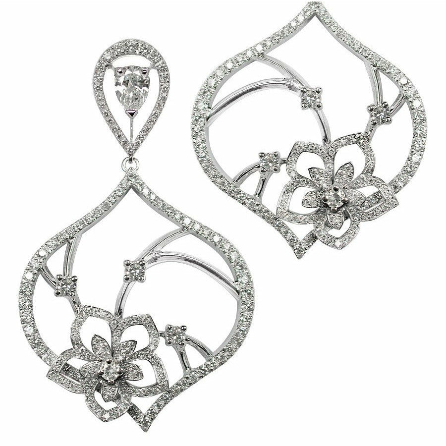 BOUQUET de JASMIN EARRINGS DIAMOND, ANTHOLOGY FLORILÈGE COLLECTION #ALACARTEBRIDAL - GERARDRIVERON