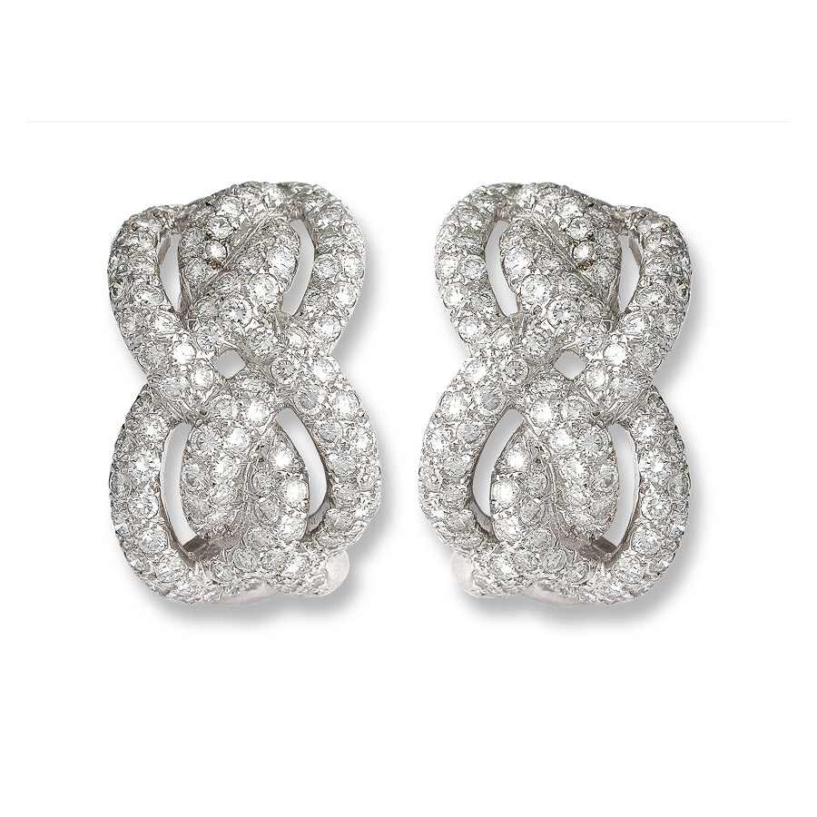 DIAMONDS EARRINGS SMYRNE, VINTAGE COLLECTION