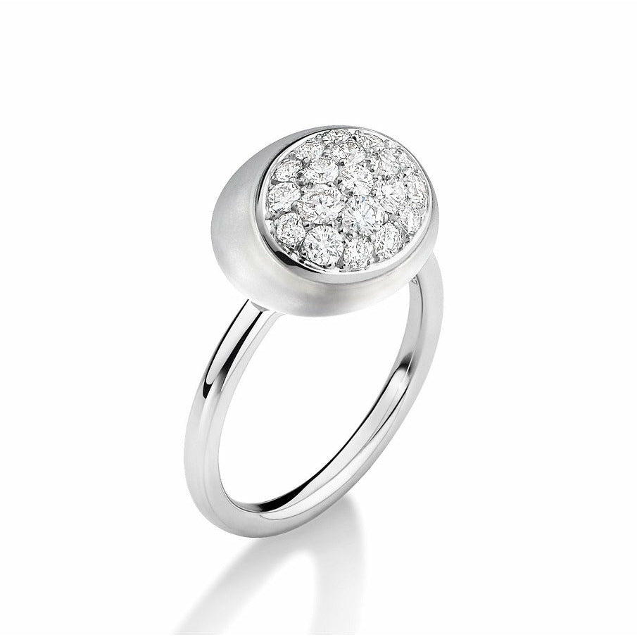 Galet M Collection Rock Crystal & Diamond Ring #ALACARTEBRIDAL