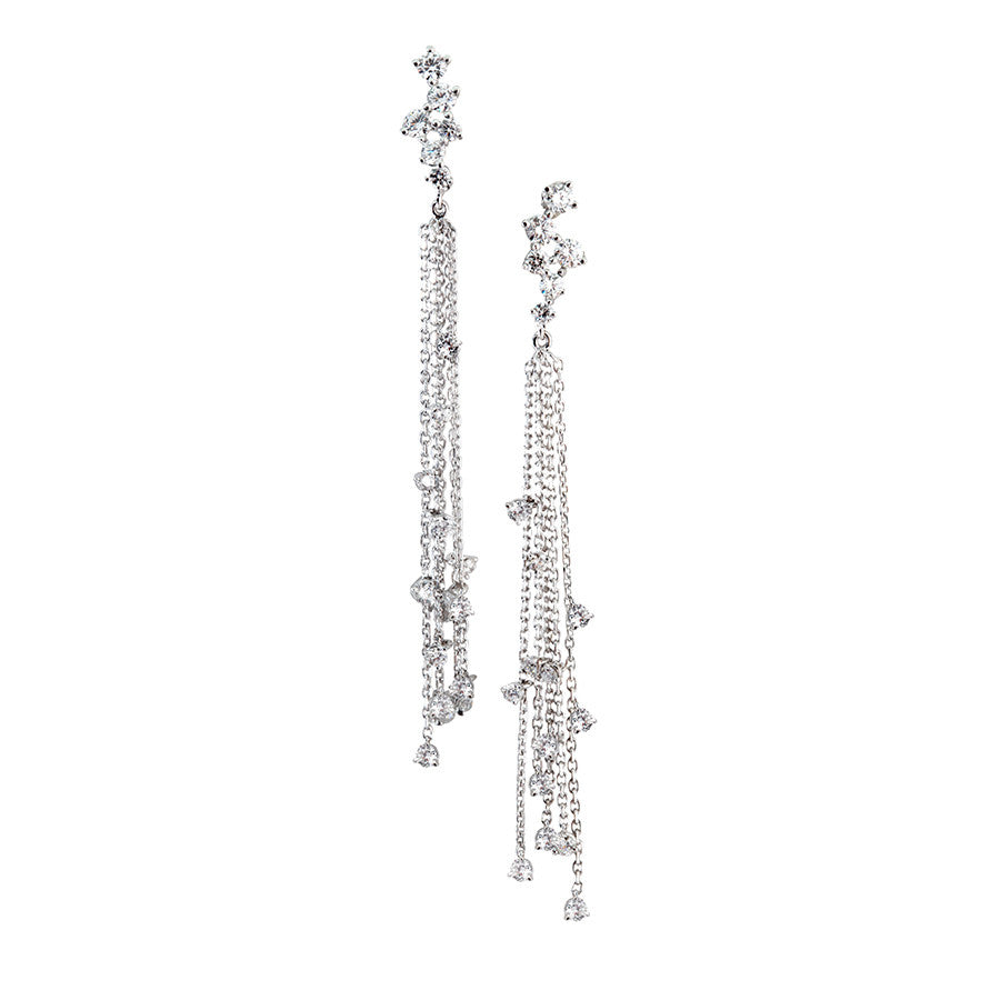 Pluie White Gold, Diamond Earrings