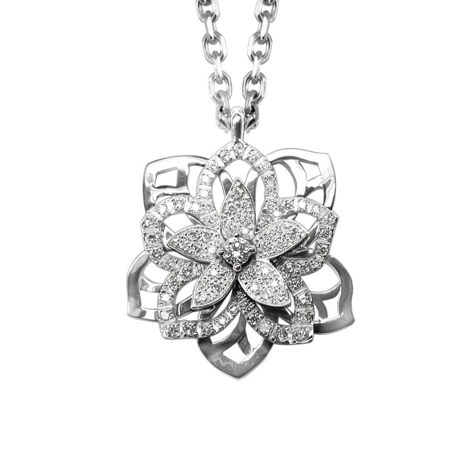 JASMIN NECKLACE WHITE GOLD AND DIAMOND, ANTHOLOGY FLORILÈGE COLLECTION #ALACARTEBRIDAL - GERARDRIVERON