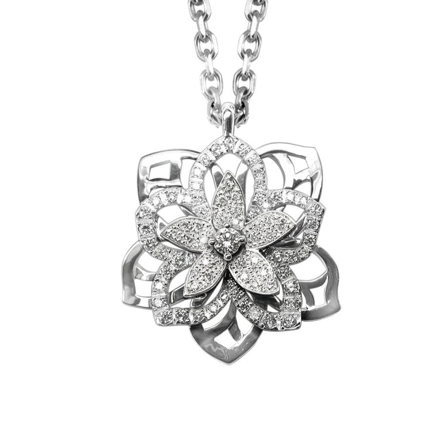 JASMIN NECKLACE WHITE GOLD AND DIAMOND, FLORILÈGE COLLECTION #ALACARTEBRIDAL