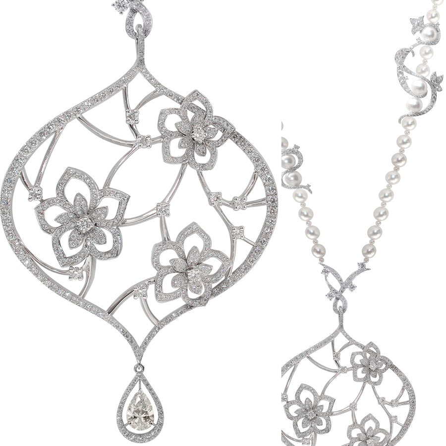 BOUQUET DE JASMIN NECKLACE DIAMONDS, FLORILÈGE COLLECTION #ALACARTEBRIDAL