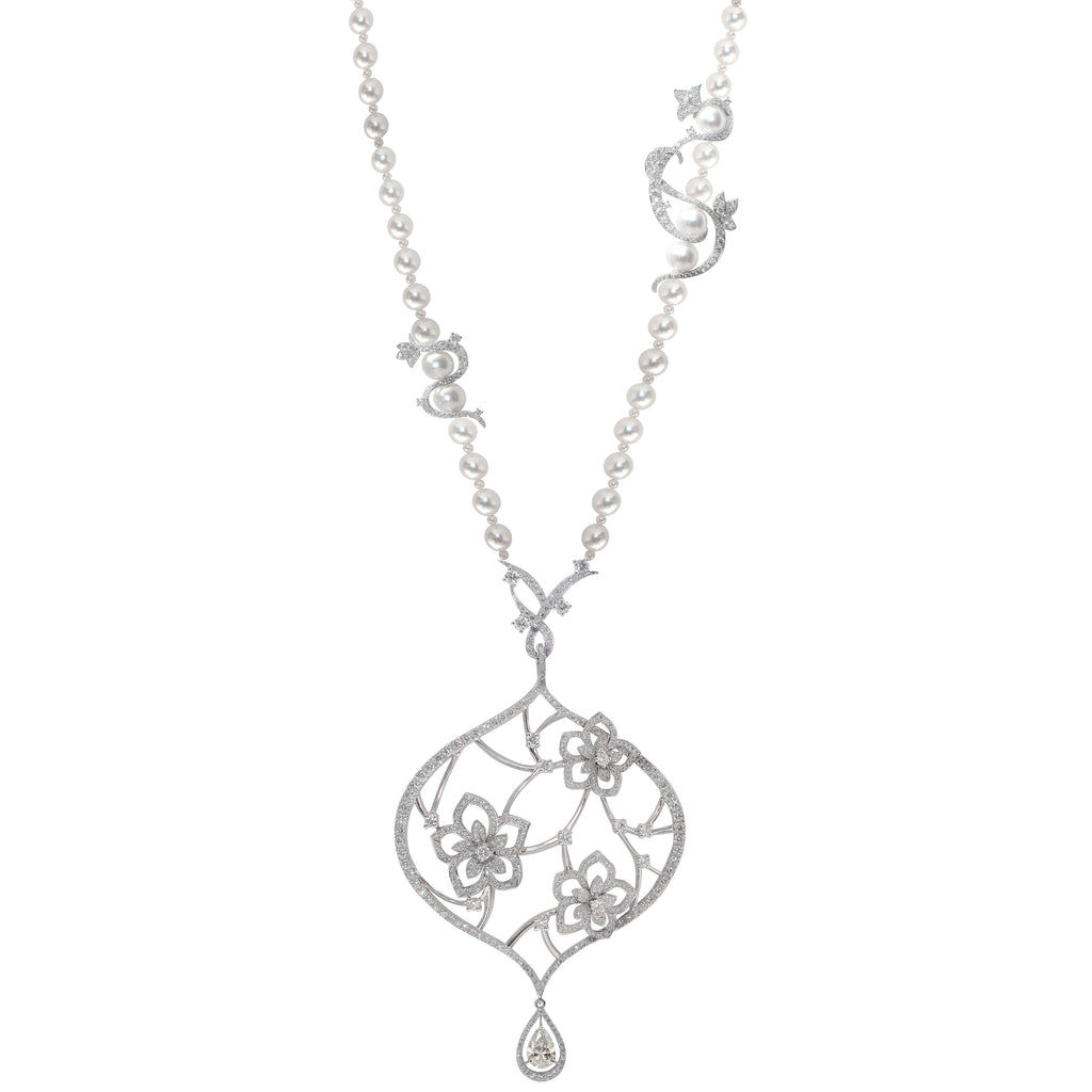 BOUQUET DE JASMIN NECKLACE DIAMOND, ANTHOLOGY FLORILÈGE COLLECTION #ALACARTEBRIDAL - GERARDRIVERON