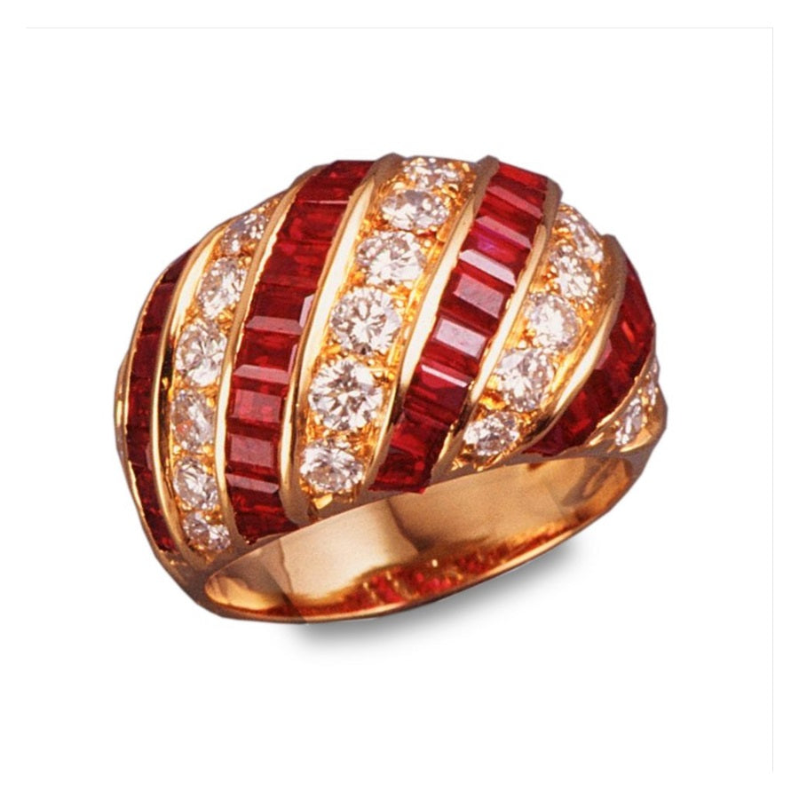 RUBY DIAMONDS RING THEMIS, VINTAGE COLLECTION - GERARDRIVERON