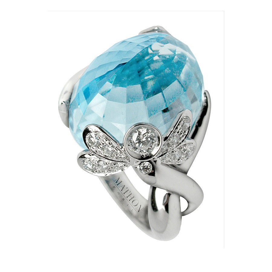 DEMOISELLE RING BLUE TOPAZ, LUCKY ANIMALS COLLECTION