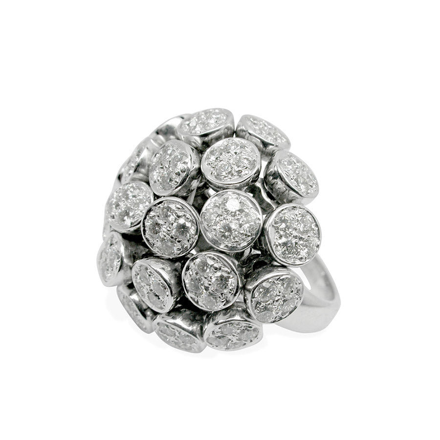 LILAS RING WHITE GOLD DIAMONDS, ANTHOLOGY FLORILÈGE COLLECTION #ALACARTEBRIDAL - GERARDRIVERON