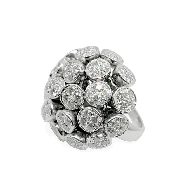 LILAS RING WHITE GOLD DIAMONDS, ANTHOLOGY FLORILÈGE COLLECTION #ALACARTEBRIDAL