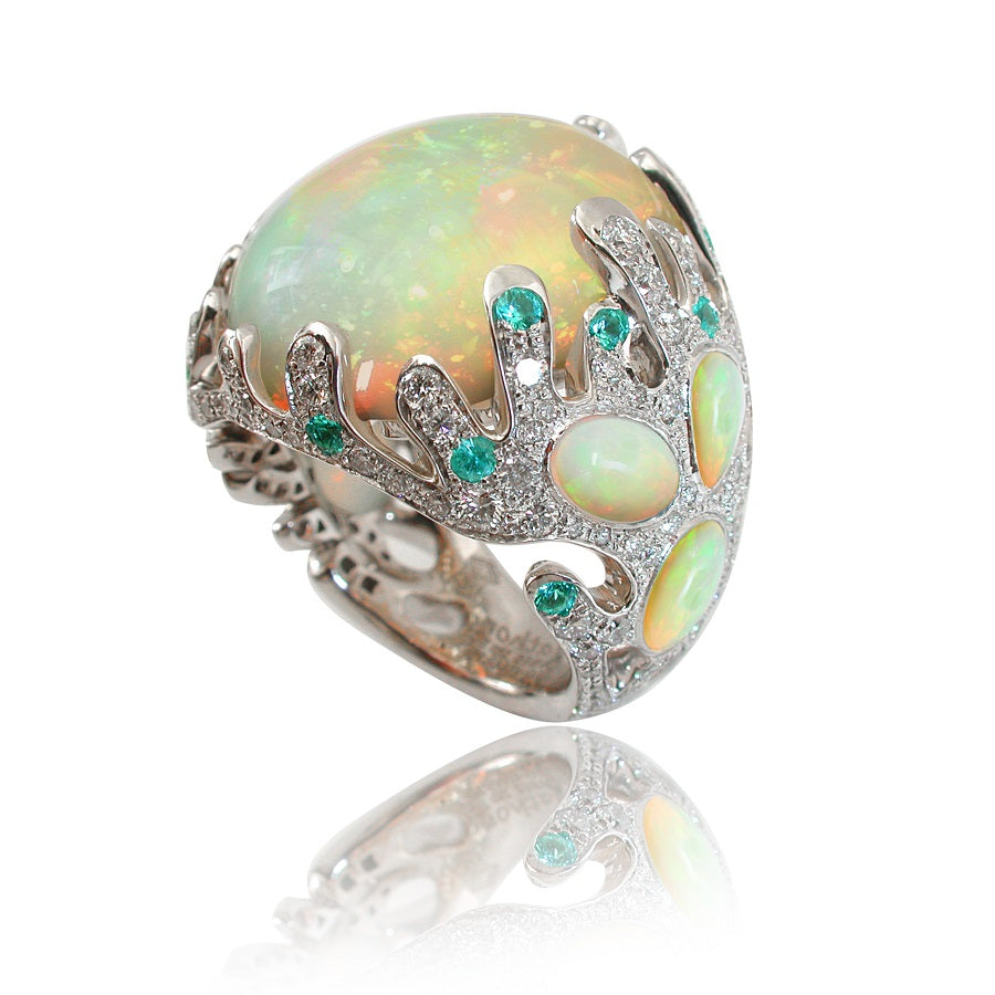 FEE DES MERS Ring WOLLO Opal Ring, WONDERS OF THE SEA Collection - GERARDRIVERON