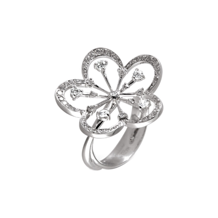 CHERRY BLOSSOM RING WHITE GOLD AND DIAMOND, ANTHOLOGY FLORILÈGE COLLECTION #ALACARTEBRIDAL - GERARDRIVERON