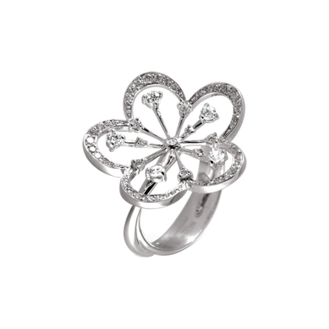 CHERRY BLOSSOM RING WHITE GOLD AND DIAMOND, FLORILÈGE COLLECTION #ALACARTEBRIDAL