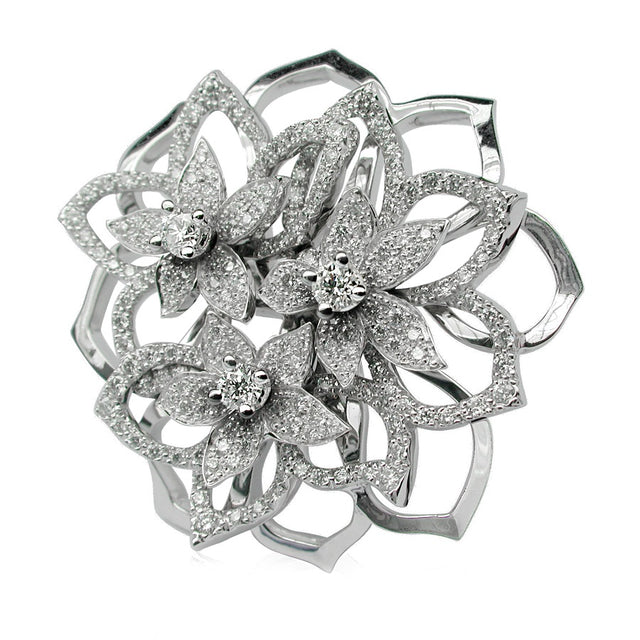 BOUQUET DE JASMIN LARGE RING DIAMOND, ANTHOLOGY FLORILÈGE COLLECTION #ALACARTEBRIDAL