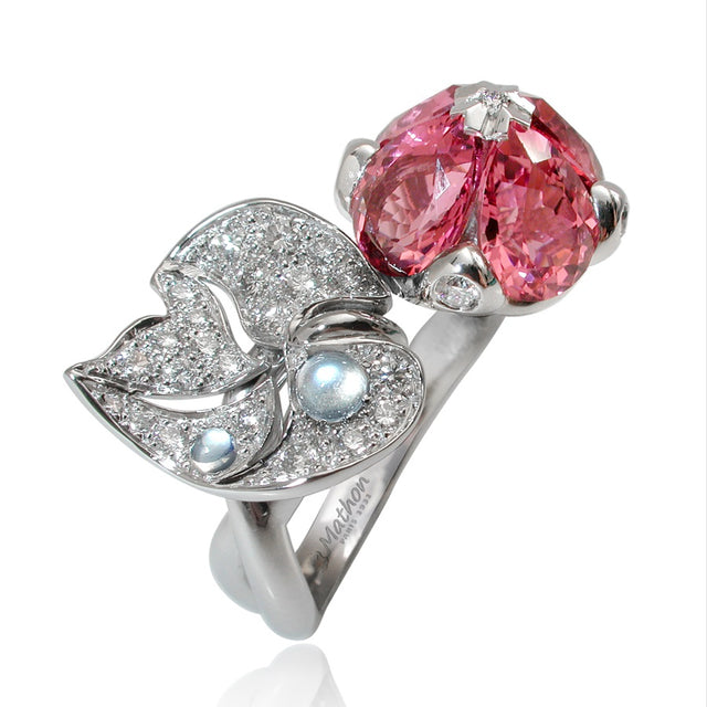 NÉNUPHAR RING PINK TOURMALINES, ANTHOLOGY FLORILÈGE COLLECTION