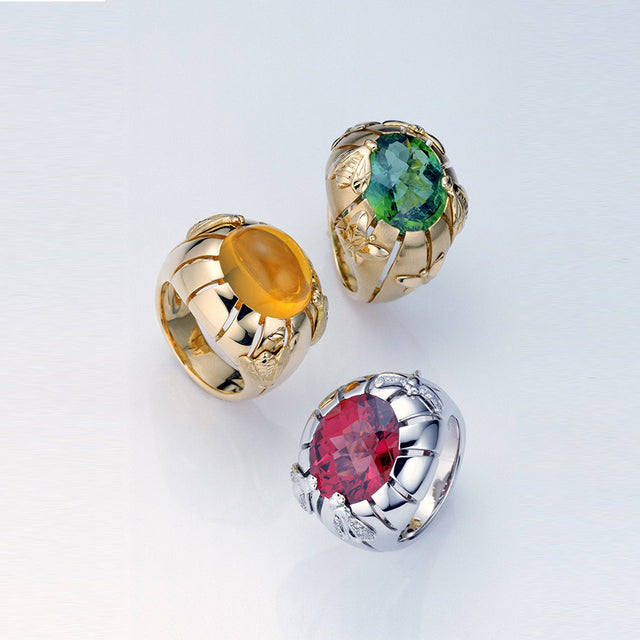 * Natural History Collection Fire Opal Cabochon Ring Rayon