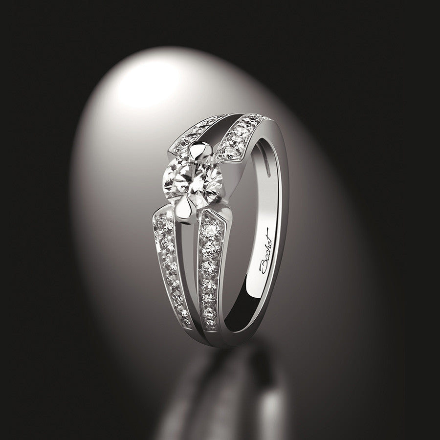 Women's Collection Engagement Ring 'DayLight Sweet Side' White Gold Medium model - GERARDRIVERON