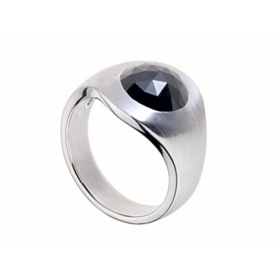 Men's Telluric 3 - Ring White Gold Black Diamond - GERARDRIVERON